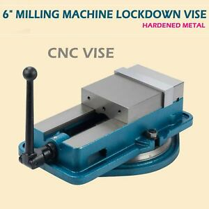 6 Hardened Milling Machine Vise Lockdown Bench Clamp Clamping Cnc Accu