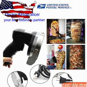 Electric Shawarma Doner Meat Knife Ce Kebab Slicer Gyros Carver Gyro Cutter New