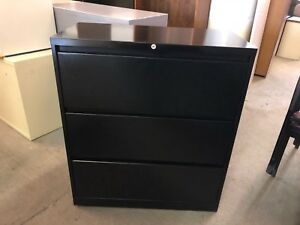 3dr 36 w Lateral File Cabinet By Steelcase 900 Series W Lock Key In Black