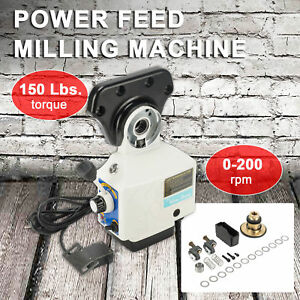 Power Feed X axis Torque 150 Lb Power Feed Milling Machine 0 210prm