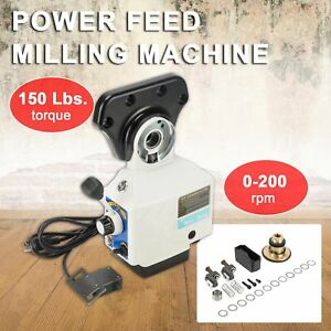 0 210 Rpm Power Feed X axis 150 Lbs Torque For Bridgeport Type Milling Machines