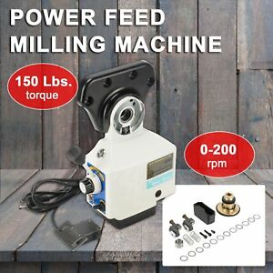Pro 0 210prm Power Table Feed Mill Fits Bridgeport Acer 150 Lb Torque