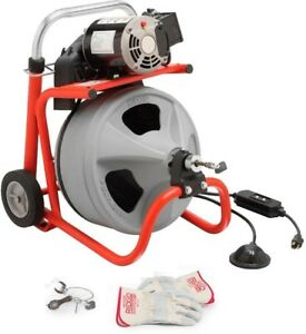 Ridgid 115 volt K 400 Drum Machine With C 31 3 8 In Integral Wound Cable