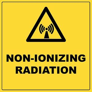Warning Non Ionizing Radiation Sign With Symbol Aluminium Metal Safety Sign