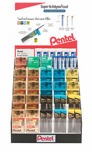 Pentel Hpe 23 Hi polymer D Lead Eraser Display Assortment