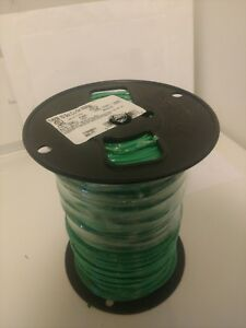 Ground Wire Solid Copper 10 Gauge Awg Green Jacket 500 Ft