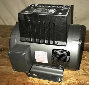 Phase a matic R 5 Phase Converter 5 Hp 208 240 V Rotary