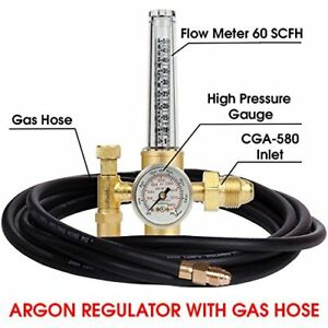 Argon Regulator Tig Welder Mig Co2 10 Hose 50 38 Scfh 25 Psig