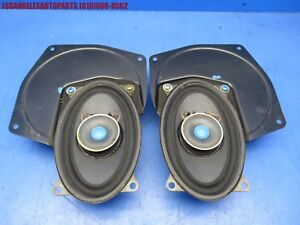 Porsche 944 Rear Original Side Speakers W Mounting Brackets Blaupunkt