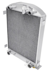 1932 Ford High Boy Radiator Aluminum With Flathead Configuration With 16 Fan
