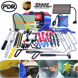 108x Us Pdr Tools Paintless Dent Repair Rod Removal Dent Lifter Hammer T Bar Kit