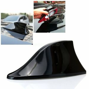 Universal Car 1x Shark Fin Roof Antenna Radio Fm Am Signal Decorate Aerial Black