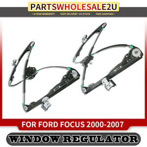 New Manual Window Regulator W o Motor For Ford Focus 2003 2007 Front Both Sides