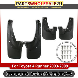 4pcs Splash Guards Mud Flaps For Toyota 4runner 2003 2009 Suv Front L