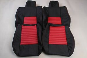 Custom Made 2008 present Dodge Challenger Real Leather Seat Covers Front Red