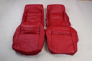 Custom Made 1979 1982 Corvette Real Leather Seat Covers Red