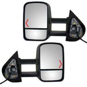 Chevy Cadillac Gmc Suv Pickup Truck Set Power Tow Mirrors Heated Signal On Glass
