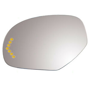 Cadillac Chevy Gmc Suv Pickup Truck Driver Side Power Mirror Glass Heated Signal