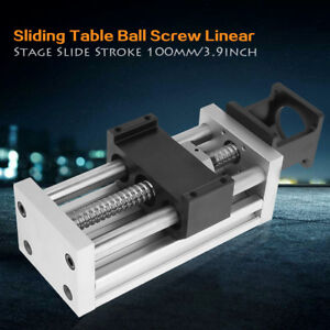 4 100mm Manual Sliding Table Sfu1605 Ball Screw Linear Stage Cnc Slide Stroke