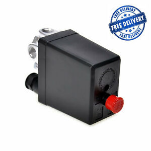 Central Pneumatic Air Compressor Pressure Switch Control Valve 90 120 Ps Psi 240