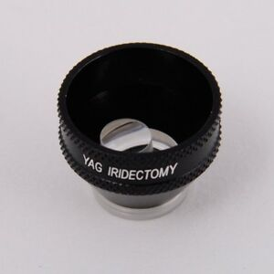 Iridectomy Lens for Yag Laser opticlear Ophthalmic Lenses In Wooden Case