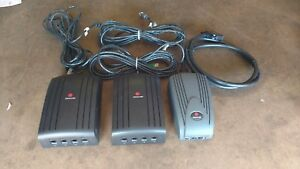 Lot Of 3 Polycom 2 Pvs xx19 q 1 Px4 xx22 Viewstation Quad Bri Interface