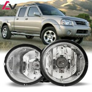 For 2001 2004 Nissan Frontier Fog Lights Wiring Switch And Bezels Clear Lens