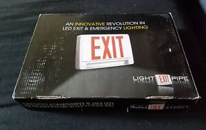 Red All Led Exit Sign Emergency Light Pipe Combo Ul Combolp