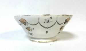 Antique 19th Century Popov Moscow Russian Porcelain Manufacturer Footed Bowl