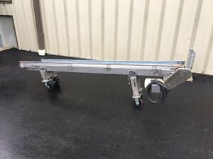 4 Inch Wide Belt X 8 Feet Long Stainless Steel Smooth Belt Conveyor