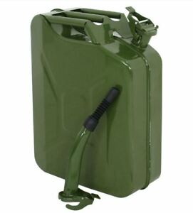 Us 5 Gallon 20l Gas Storage Tank Can Emergency Backup Steel Metal Jerry Can Army