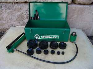 Greenlee 7310 Hydraulic Knockout Punch And Die Set 1 2 To 4 5 21 7