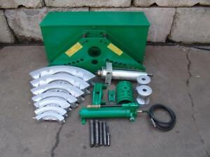 Greenlee 885 1 1 4 To 5 Inch Hydraulic Pipe Bender With Pump Works Great
