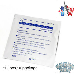 Us Ship Disposable Sticky Electrodes 200pcs For Ecg eeg Machine patient Monitor