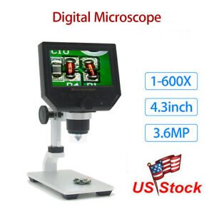 G600 Digital 1 600x 4 3 Lcd Microscope Magnifier Endoscope Professional Camera