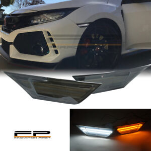 2016 2017 18 19 Honda Civic Led Side Markers Smoked Lens Switchback Amber White