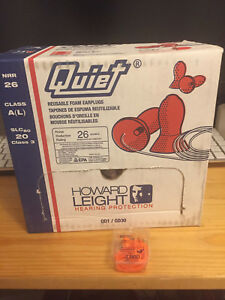 Howard Leight Qd30 Quiet Reusable Corded Ear Plugs Nrr 26 100 Pairs
