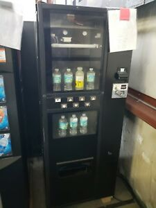 Dixie Narco 276e Soda Drink Machine takes Bill coins can bottle warranty support