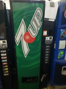 Dixie Narco 546 Soda Drink Machine takes Bill coins can bottle warranty support