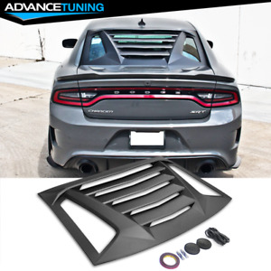 Fits 11 20 Dodge Charger Ikon V2 Style Window Scoop Louver Sun Shade Cover Abs