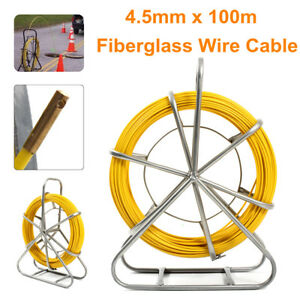 Fish Tape Fiberglass Wire Cable Running Rod Duct Rodder Puller 4 5mm 10