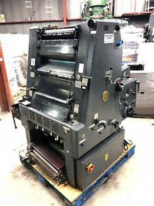 Printing Press Heidelberg Gto 46 1 Color With Numbering Unit