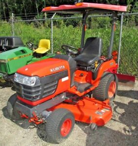 2004 Kubota Bx2230 4wd Tractor W 60 Deck Blade Canopy Lift Pole 1137hrs