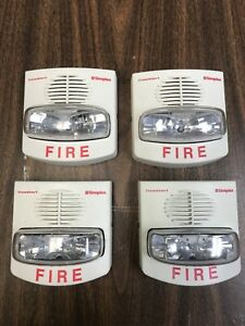 Lot Of 4 White Simplex Horn Strobe 4906 9129 20 30 Vdc White Used