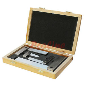 4 Pc Machinist Hardened Steel Square Set Include 2 3 4 6 Right Angle
