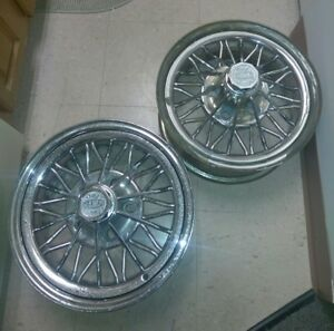 2 Weld Wheels Star Wires 30 Spoke Front Drive 84 s Swangas Cragar Original Vtg