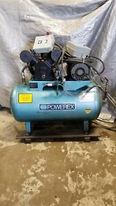 Powerex Cs500gh 5hp 80psig 240v 3ph Air Compressor pmt
