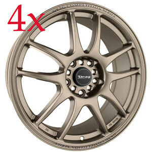 Drag Dr31 15x6 5 4x100 4x114 Rally Bronze Rims For Protege Civic Neon Insight