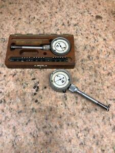 2 Interapid Compac Alina Swiss Dial Bore Gages 28 50