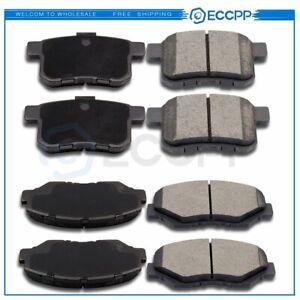 Front And Rear Ceramic Brake Pads Kit For Honda Accord 2008 2009 2010 2011 2012